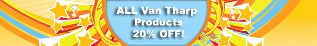 20 percent off van tharp products